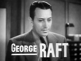 George Raft in de trailer van Invisible Stripes