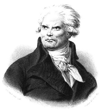 "Georges Danton - According to a biographer, ""Danton's height was colossal, his make athletic, his features strongly marked, coarse, and displeasing; his voice shook the domes of the halls""."