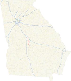 Georgia State Route 247 - Image: Georgia state route 247 map