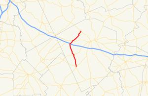 Georgia State Route 338 - Image: Georgia state route 338 map
