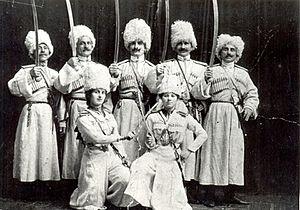 Georgian horsemen in Wild West Shows - Georgian horsemen in the US.