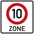 Germany's Custom Road Sign Speed Zone 1AA.png