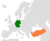 Lage von Deutschland und der Türkei