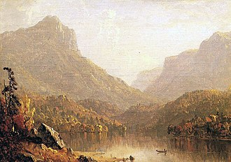 Sanford Robinson Gifford - Lake Scene - 1861