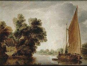 Gillis Peeters the Elder - View of a River