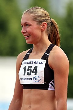 Gina Lückenkemper - the cool, cute,  athlete  with German roots in 2018