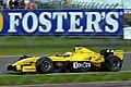 Giorgio Pantano - Jordan EJ14 during practice for the 2004 British Grand Prix (50830719628).jpg