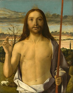 Giovanni Bellini - Christ Blessing, 1500; Tempera, oil, and gold on panel; Kimbell Art Museum, Texas.