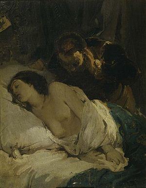 Parisina Malatesta - Giuseppe Bertini, Parisina, 1854
