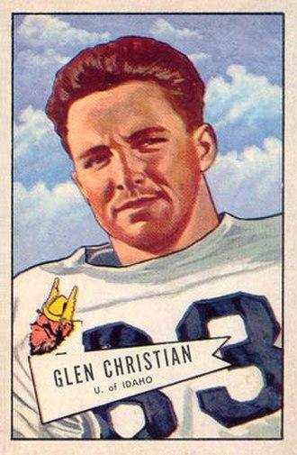 Glen Christian - Christian on a 1955 Bowman football card