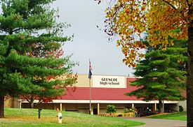 Glencoe High School Oregon entrance.JPG
