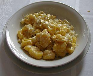 Gnocchi di patate con asparagi bianchi di Bassano del Grappa
