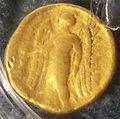 Goldene Munze aus Trepcza - Keltischer Stater vom Nike-Typ.jpg