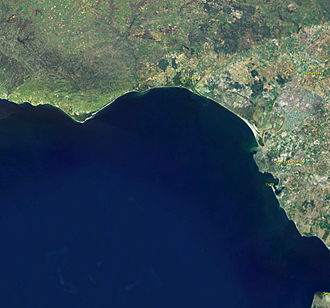 Gulf of Cádiz - A satellite image of the Gulf of Cádiz.