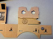 Unfolded Google Cardboard VR headset