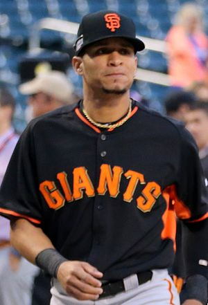 Gorkys Hernández - Hernandez with the San Francisco Giants in 2016