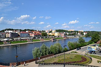 Gorzów Wielkopolski - View of the riverside boulevards and the city's oldest section