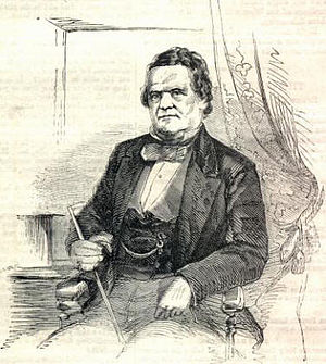 Francis Wilkinson Pickens - Governor-elect Francis W. Pickens in 1860 (from Harper's Weekly)