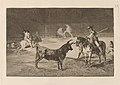 Goya - El celebre Fernando del Toro, barilarguero, obligando a la fiera con su garrocha.jpg