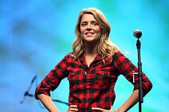 Electra Woman and Dyna Girl (web series) - Image: Grace Helbig Vid Con 2012 on Stage 01