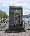 Graffiti On The Passerelle Simone-de-Beauvoir Over The Seine - Paris 2013.jpg