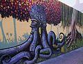 Graffiti a un mur del jardí botànic de València.JPG