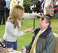 Graham Lay having make up applied.jpg