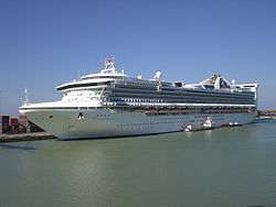 Die Grand Princess in Livorno (August 2007)