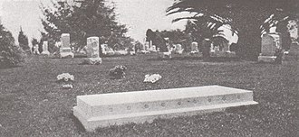 Thornton Chase - Chase's grave in Inglewood Park Cemetery, Los Angeles as it appeared in 1920.