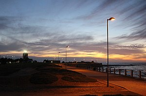 Green Point Lighthouse, Cape Town - The Green Point Lighthouse at Sunset.