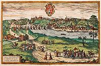 Гродно на картине XVI века