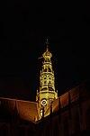 grote kerk haarlem bij nacht