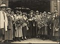 Group at station to meet Dame Clara Butt, 1920s.jpg