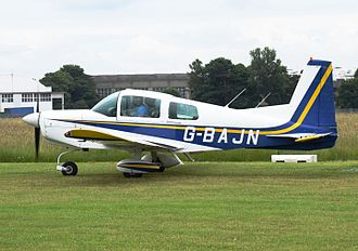 American Aviation - Grumman American AA-5 Traveler at Cotswold Airport, Gloucestershire, England (2016)