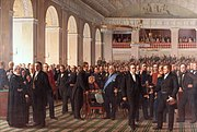 Den Grundlovsgivende Rigsforsamling (The Constitutional Assembly. The Assembly created The Danish constitution), 1860–1864 painting by Constantin Hansen
