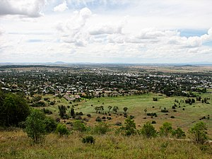Gunnedah - Gunnedah viewed from Mount Porcupine