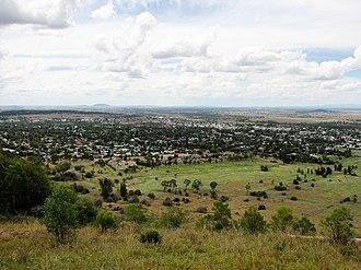 Gunnedah - Gunnedah viewed from Mount Porcupine