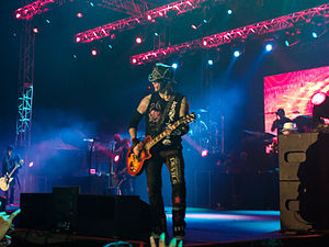 DJ Ashba - Ashba with Guns N' Roses during a concert in Bangalore