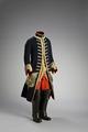 Gustav III: rock, väst, byxor, livgehäng och stövlar till jaktdräkt - Livrustkammaren - 86116.tif