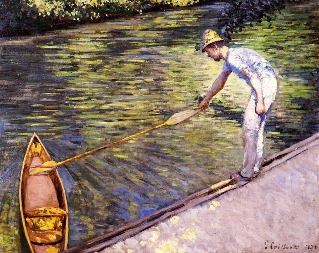 Gustave Caillebotte Boater Pulling on His Perissoire