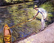 Gustave Caillebotte Boater Pulling on His Perissoire.jpg