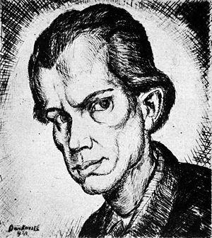 Gyula Derkovits - Self-portrait (1921)