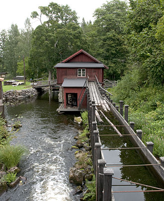 Flume - Log flume in Sweden, August 2010