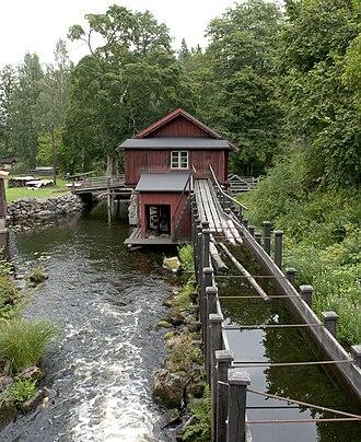 Flume - Log flume in Sweden, August 2010