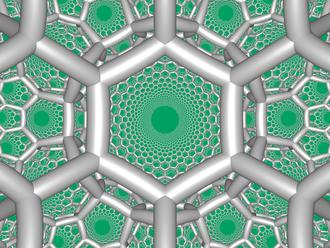 Hexagonal tiling honeycomb - Image: H3 633 FC boundary