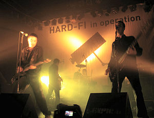 Hard-Fi - Hard-Fi in concert at Sala Caracol in Madrid, Spain, 2006