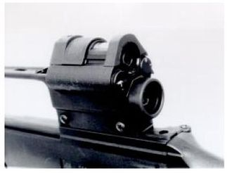 Heckler & Koch G36 - Dual combat sighting system ZF 3×4° as used on German G36A1 assault rifles