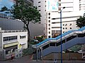 HK 觀塘 Kwun Tong 開源道 Hoi Yuen Road MTR exit footbridge view October 2018 SSG 09.jpg