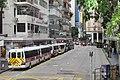 HK Bus 10 view CWB 維園道 Victoria Park Road 百德新街 Paterson Street police feet cars July 2017 IX1 02.jpg