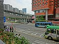 HK Hung Hom Hung Lai Road 紅磡 紅荔道 HKPolyU Halls of Residence view Hung Hom South Road footbridge Mar-2013.JPG